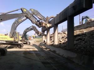 Demolition of Columns