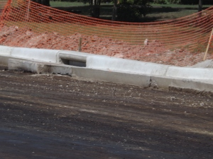 Formed Curb & Gutter Before Asphalt Pouring