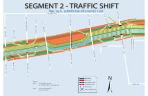 EBWB Traffic Shift South of the Center Line