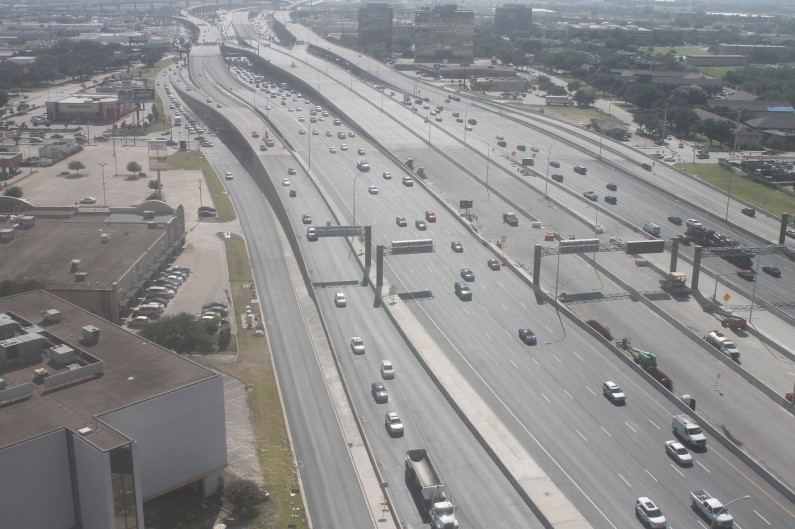 LBJ Express with restored capacity of 4 lanes plus shoulders on July 13th.